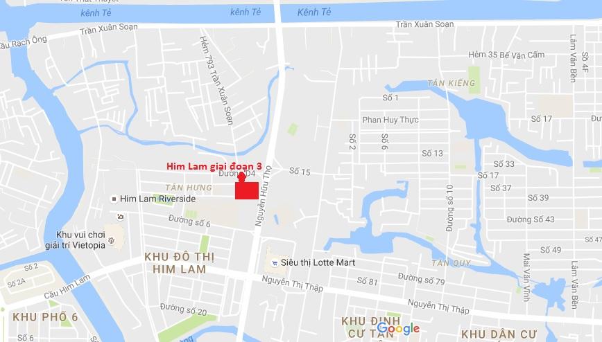 Vị trí căn hộ Him Lam riverside giai đoạn 3